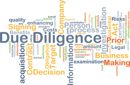 acquisition: Background concept wordcloud illustration of due diligence