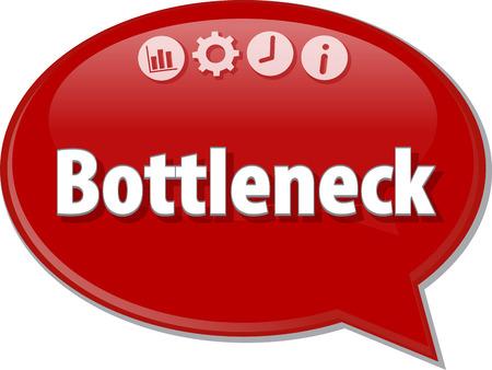 bottleneck: Speech bubble dialog illustration of business term saying Bottleneck