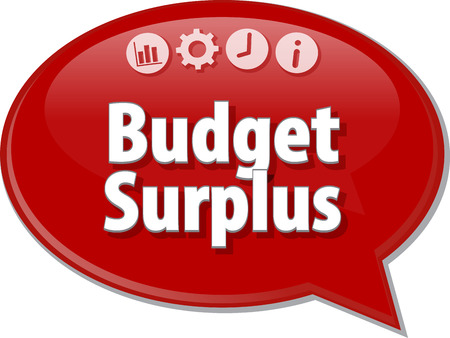budget: Blank business strategy concept infographic diagram illustration Budget Surplus