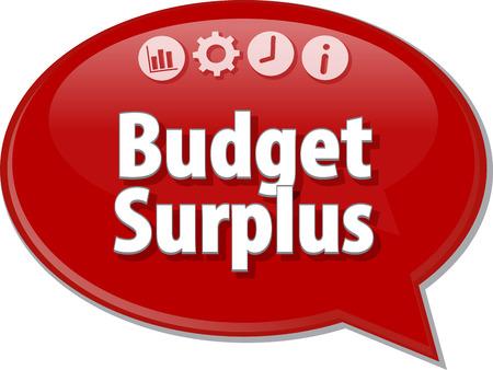 surplus: Blank business strategy concept infographic diagram illustration Budget Surplus