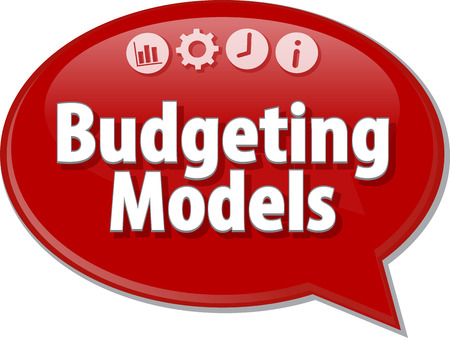 budgeting: Blank business strategy concept infographic diagram illustration Budgeting Models Stock Photo