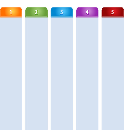 tabbed: Blank business strategy concept infographic diagram illustration Tab Items Five