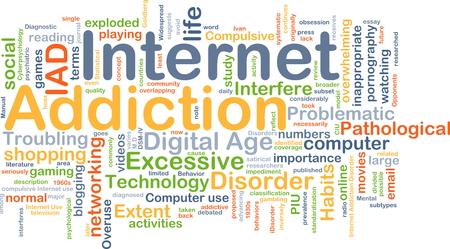 compras compulsivas: Concepto de fondo wordcloud ilustraci�n de la adicci�n a Internet Foto de archivo