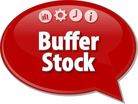 term: Speech bubble dialog illustration of business term saying Buffer Stock