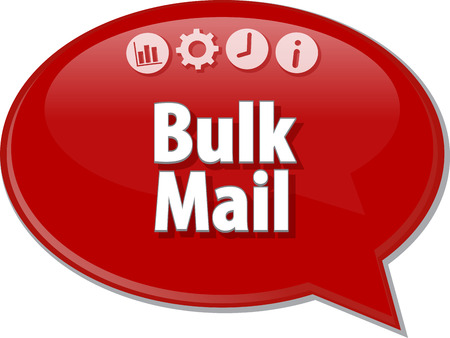 bulk: Blank business strategy concept infographic diagram illustration Bulk Mail