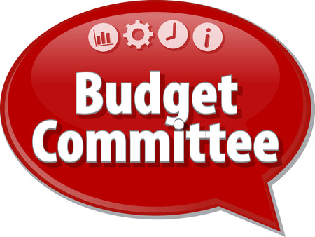 comité d entreprise: Comité du budget concept de stratégie d'entreprise Blank schéma infographie illustration Banque d'images