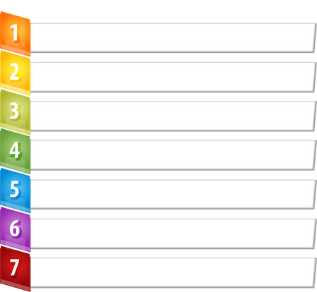 slant: Blank business strategy concept infographic diagram illustration Slant Items Seven