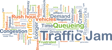 motorists: Background concept wordcloud illustration of traffic jam