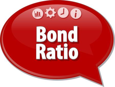 the ratio: Speech bubble dialog illustration of business term saying Bond Ratio Stock Photo