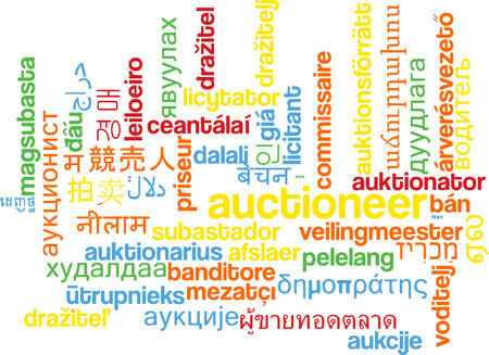 auctioneer: Background concept wordcloud multilanguage international many language illustration of auctioneer