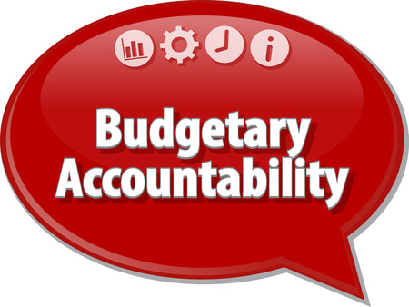 budgetary: Blank business strategy concept infographic diagram illustration Budgetary Accountability