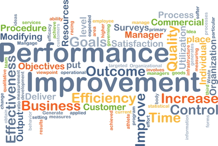 operational definition: Background concept wordcloud illustration of performance improvement
