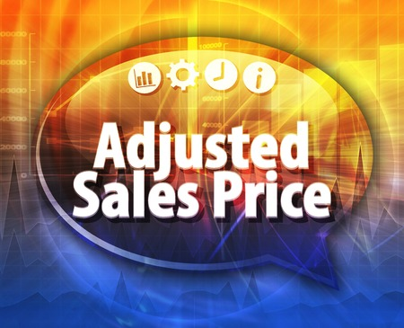 adjusting: Speech bubble dialog illustration of business term saying Adjusting Entry Stock Photo