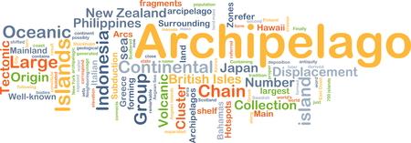 archipelago: Background concept wordcloud illustration of Archipelago