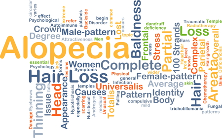 Background concept wordcloud illustration of alopecia