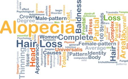 Wordcloud Hintergrund Konzept der Alopezie Lizenzfreie Bilder