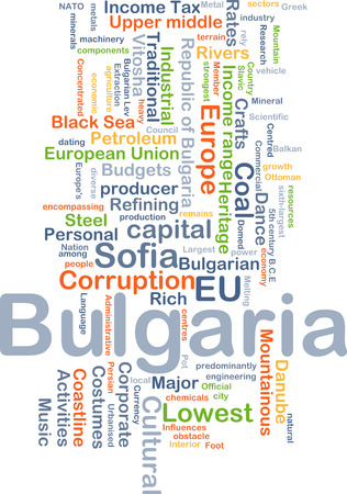budgets: Background concept wordcloud illustration of Bulgaria Stock Photo