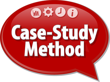 theoretical: Blank business strategy concept infographic diagram illustration Case-Study Method
