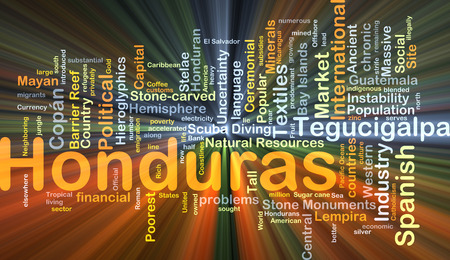 Background concept wordcloud illustration of Honduras glowing light Stock Photo