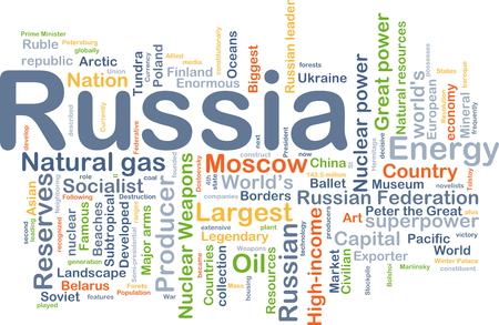 enormous: Background concept wordcloud illustration of Russia