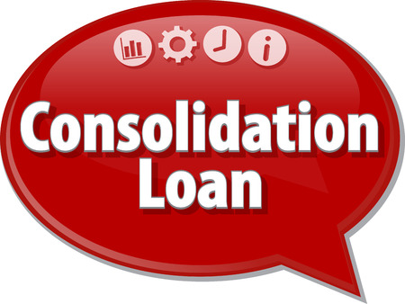consolidation: Blank business strategy concept infographic diagram illustration Consolidation Loan Stock Photo