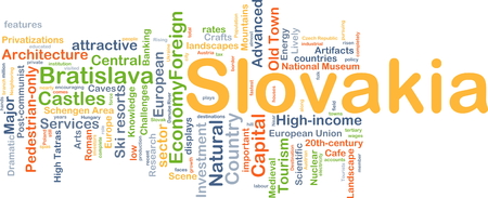 slovakia: Background concept wordcloud illustration of Slovakia