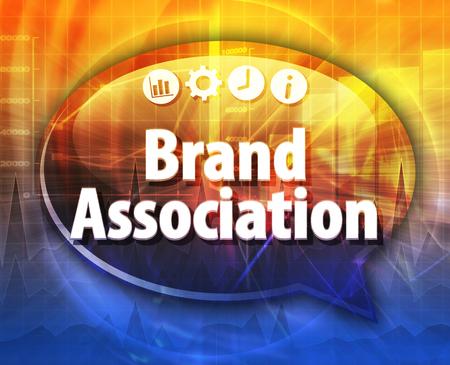 association: Speech bubble dialog illustration of business term saying Brand Association Stock Photo