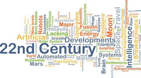 century: Background concept wordcloud illustration of 22nd century