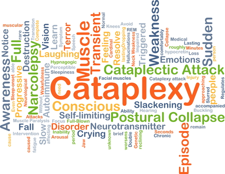 sudden: Background concept wordcloud illustration of cataplexy