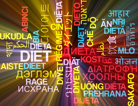 russian food: Background concept wordcloud multilanguage international many language illustration of diet glowing light