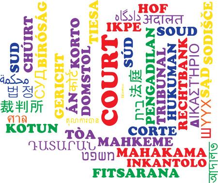 multilanguage: Background concept wordcloud multilanguage international many language illustration of court Stock Photo