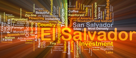 inequality: Background concept wordcloud illustration of El Salvador glowing light