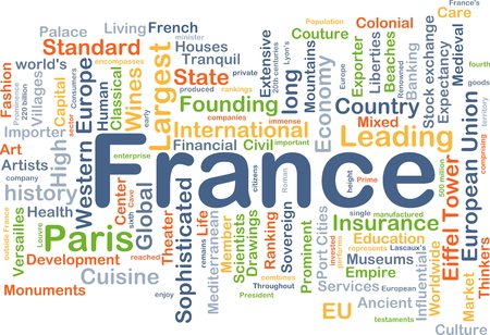 liberties: Background concept wordcloud illustration of France Stock Photo