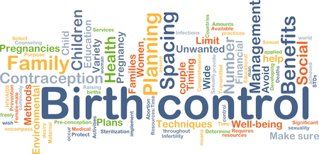 spacing: Background concept wordcloud illustration of birth control