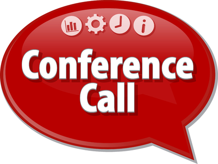 conference call: Blank business strategy concept infographic diagram illustration Conference Call
