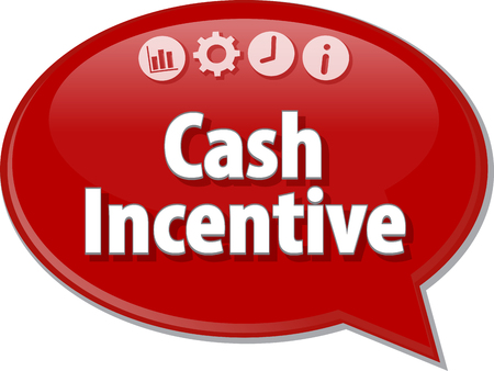 incentive: Blank business strategy concept infographic diagram illustration Cash Incentive Stock Photo