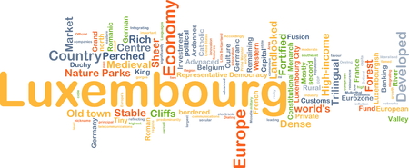 landlocked country: Background concept wordcloud illustration of Luxembourg