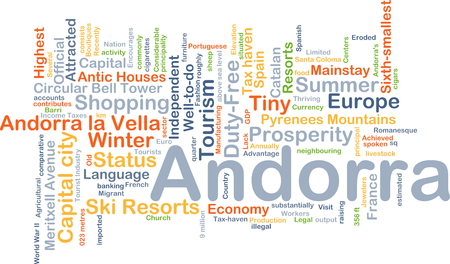 antic: Background concept wordcloud illustration of Andorra