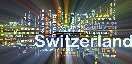 liberties: Background concept wordcloud illustration of Switzerland glowing light