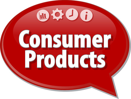 tangible: Blank business strategy concept infographic diagram illustration Consumer Products