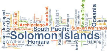 sunken: Background concept wordcloud illustration of Solomon Islands