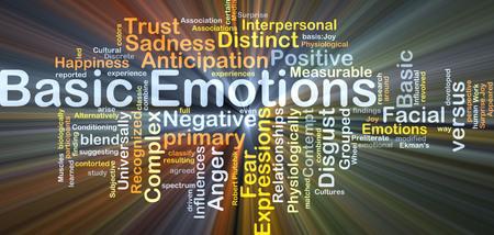 desprecio: Ilustraci�n de fondo wordcloud concepto de las emociones b�sicas de luz que brillan intensamente