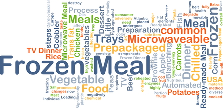 frozen fish: Background concept wordcloud illustration of frozen meal