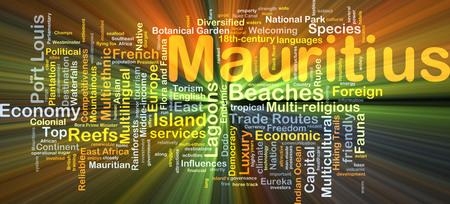 competitividad: Ilustraci�n de wordcloud concepto de Mauricio luz que brilla intensamente