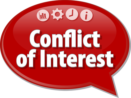 conflict theory: Blank business strategy concept infographic diagram illustration Conflict of Interest