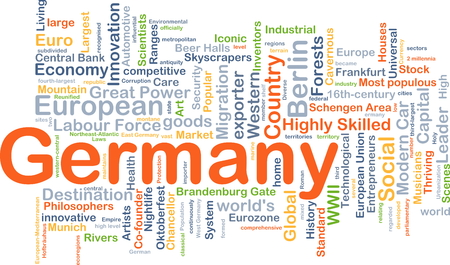 Background concept wordcloud illustration of Germany