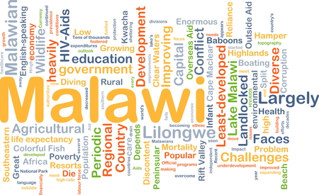 malawian: Background concept wordcloud illustration of Malawi
