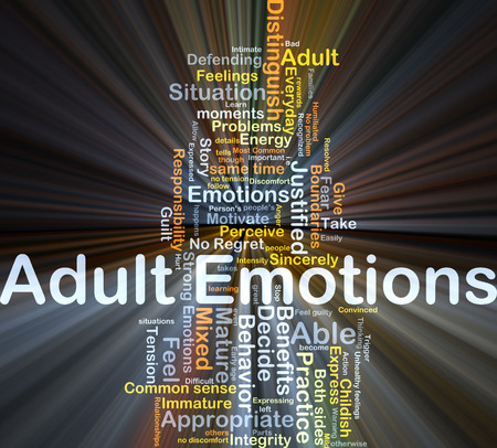 no integrity: Background concept wordcloud illustration of adult emotions glowing light