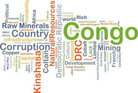 Congo: Background concept wordcloud illustration of Congo