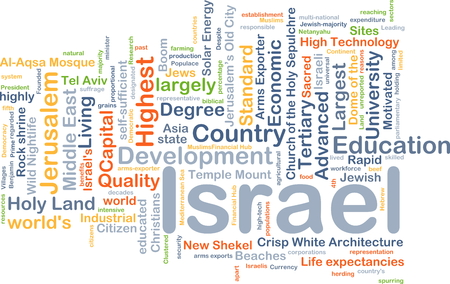 exporter: Background concept wordcloud illustration of Israel